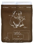 Clock For Keeping Animal Time Patent Drawing 1c Duvet Cover