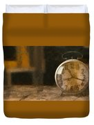 Clock - Id 16218-130706-9555 Duvet Cover