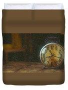Clock - Id 16218-130715-1843 Duvet Cover