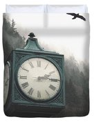 Clock Raven Duvet Cover