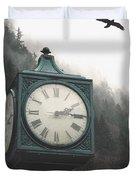 Clock Raven Duvet Cover