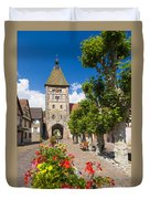 Half-timbered Houses, Alsace, France  Duvet Cover