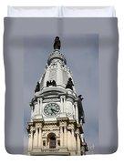 Clock Tower City Hall - Philadelphia Duvet Cover