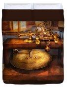Clocksmith - The Gear Cutting Machine  Duvet Cover