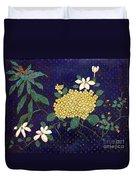 Cloisonee' Flower Duvet Cover