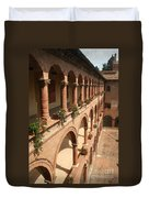 Cloistered Courtyard Duvet Cover
