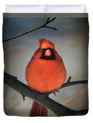 Close Encounter On A Blustery Day Duvet Cover