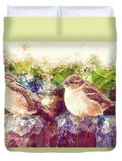 Close Encounters Of The Bird Kind Duvet Cover