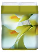 Close Up Calla Lilies Duvet Cover