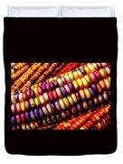 Close Up Indian Corn Duvet Cover