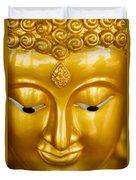 Close-up Of A Golden Buddha Duvet Cover