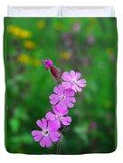 Close Up Of A Least Primrose Flower Duvet Cover