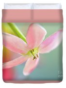 Close Up Of A Pink Flower Duvet Cover