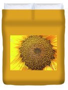 Close Up Of A Sunflower Head Duvet Cover