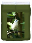Close-up Of Bali Myna Bird In Trees Duvet Cover