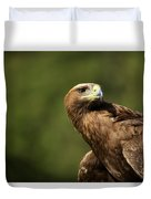 Close-up Of Golden Eagle With Head Turned Duvet Cover