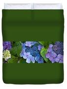 Close-up Of Hydrangea Flowers Duvet Cover