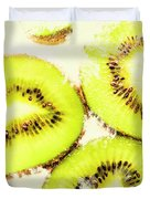 Close Up Of Kiwi Slices Duvet Cover