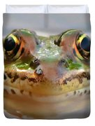 Close-up Of Leopard Frog Duvet Cover