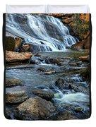 Close Up Of Reedy Falls In South Carolina Duvet Cover