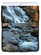 Close Up Of Reedy Falls In South Carolina II Duvet Cover