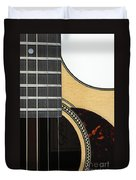 Close-up Of Steel-string Guitar Duvet Cover