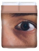 Close-up Of The Eye Of A Man Duvet Cover