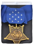 Close-up Of The Medal Of Honor Award Duvet Cover