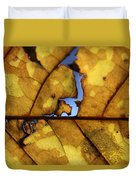 Close Up Of Yellow Leaf Duvet Cover