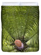 Close-up Palm Leaves Duvet Cover