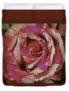 Close Up Pink Red Rose Duvet Cover