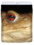 Close Up Portrait Of A Common Toad Duvet Cover