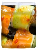 Close Up Sushi In Plate Duvet Cover by Deyan Georgiev