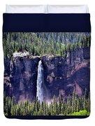 Close-up Telluride Falls Duvet Cover
