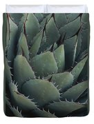 Close View Of An Agave Plant Duvet Cover