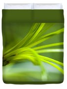 Close View Of Green Flower Duvet Cover