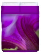 Close View Of Purple Petunia Duvet Cover