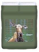 Close Wet Moose Duvet Cover