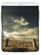 Closed Gates And Open Paddocks Duvet Cover