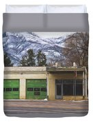 Closed Service Station Painterly Impressions Duvet Cover