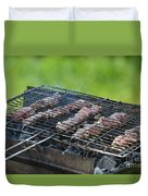 Closeup Kebabs Duvet Cover