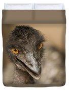 Closeup Of A Captive Emu Duvet Cover