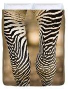 Closeup Of A Grevys Zebras Legs Equus Duvet Cover
