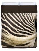 Closeup Of A Grevys Zebras Rear End Duvet Cover