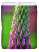 Closeup Of A Pink Lupine Duvet Cover