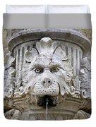 Closeup Of A Public Fountain In Dubrovnik Croatia Duvet Cover