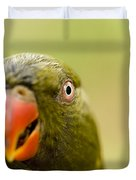 Closeup Of A Scaly-breasted Lorikeet Duvet Cover