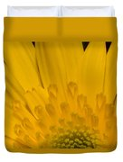 Closeup Of A Yellow Chrysanthemum Duvet Cover