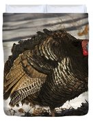 Closeup Of An Adult Male Wild Turkey Duvet Cover