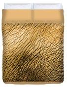 Closeup Of An African Elephant Duvet Cover